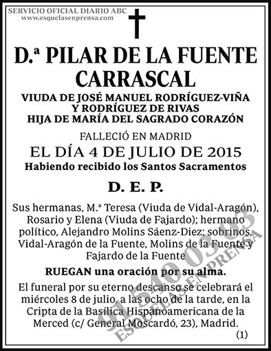 Pilar de la Fuente Carrascal